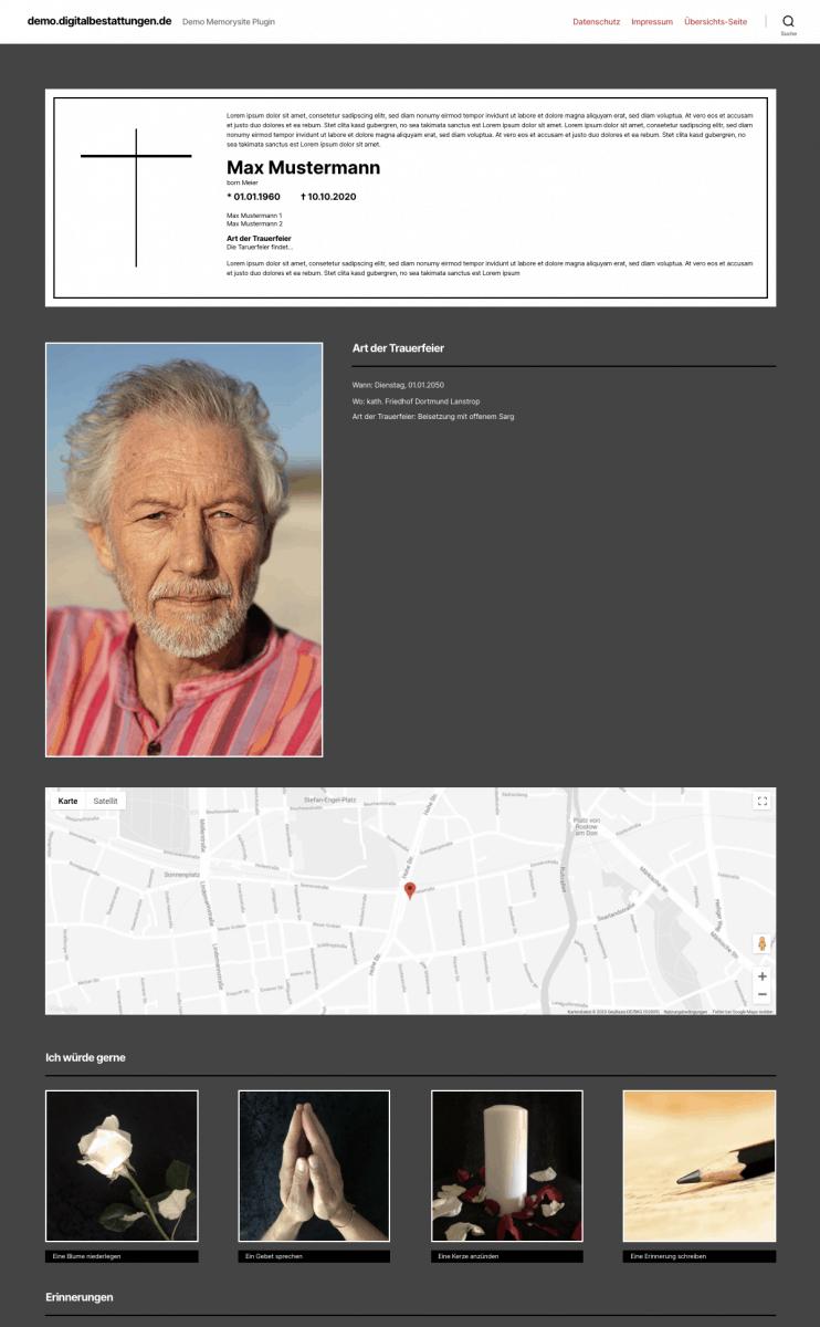 Erinnerungsseiten Gedenkseiten Digitalisierung Webseiten Dortmund